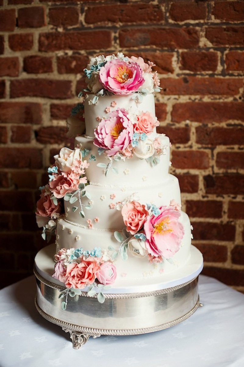 Sugar Flower 4-tier Wedding Cake