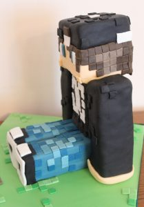 Minecraft Figure Birthday Cake