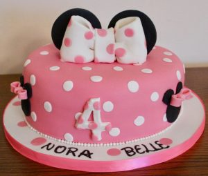 Minnie Mouse 4th Birthday Cake
