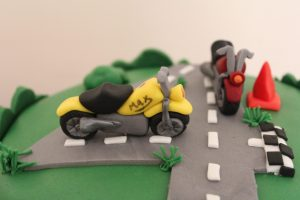 Motorbike 4th Birthday Cake