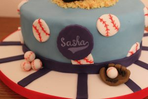 Baseball 5th Birthday Cake