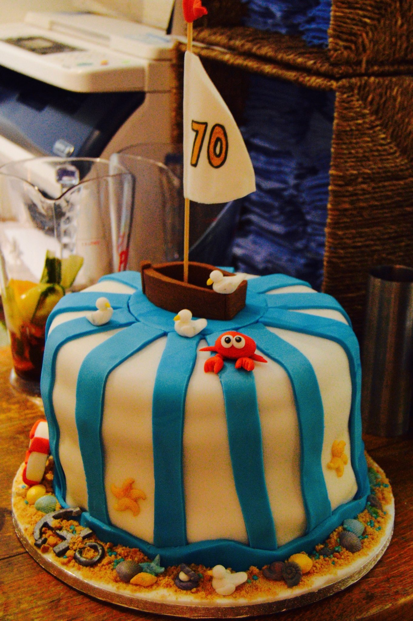 Marine Life 70th Birthday Cake