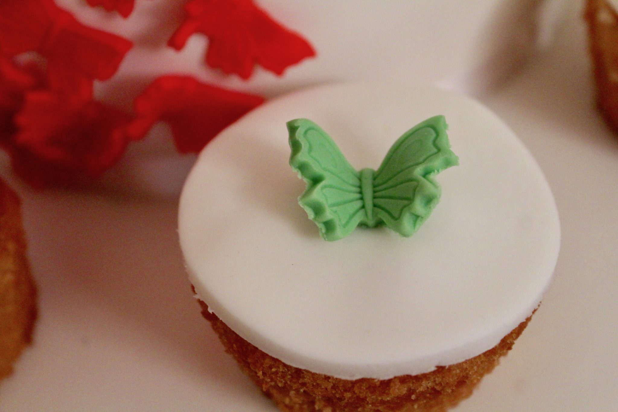 Lithuanian centenary free-from cupcake