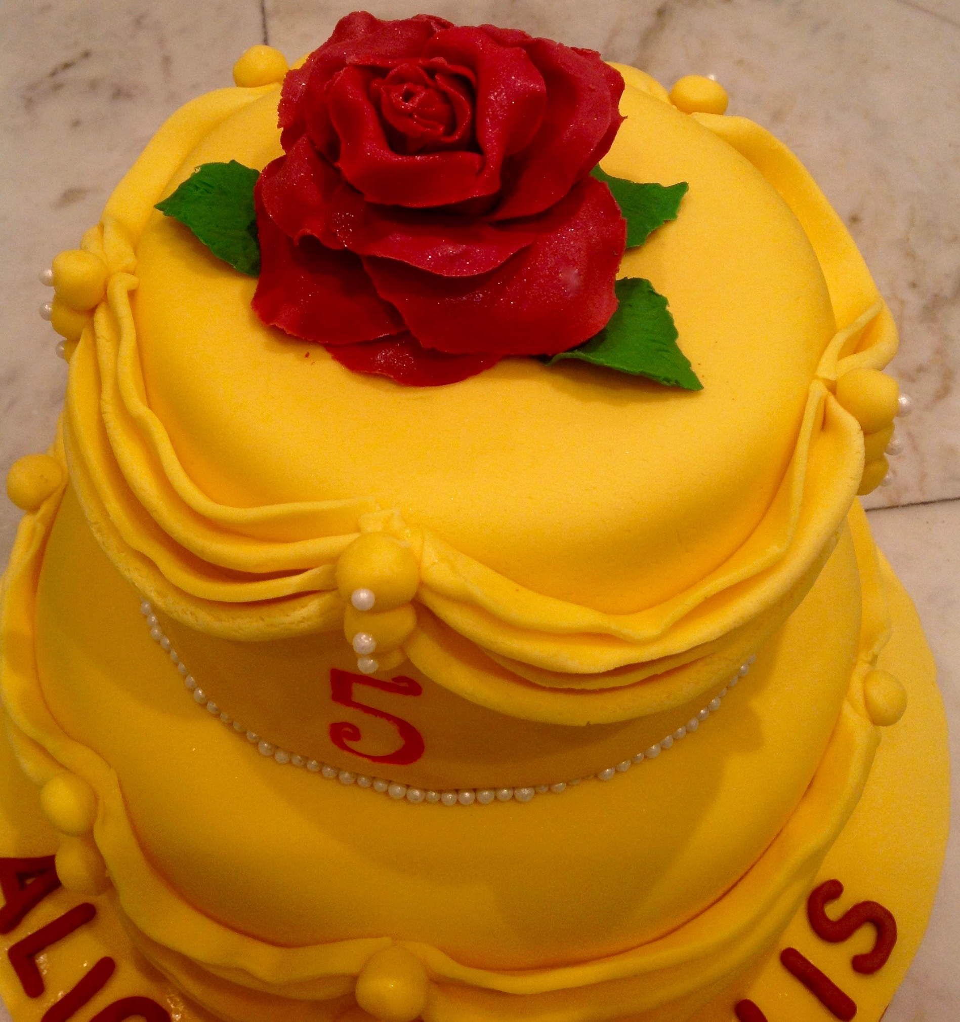 Disney Belle Beauty and the Beast Birthday Cake