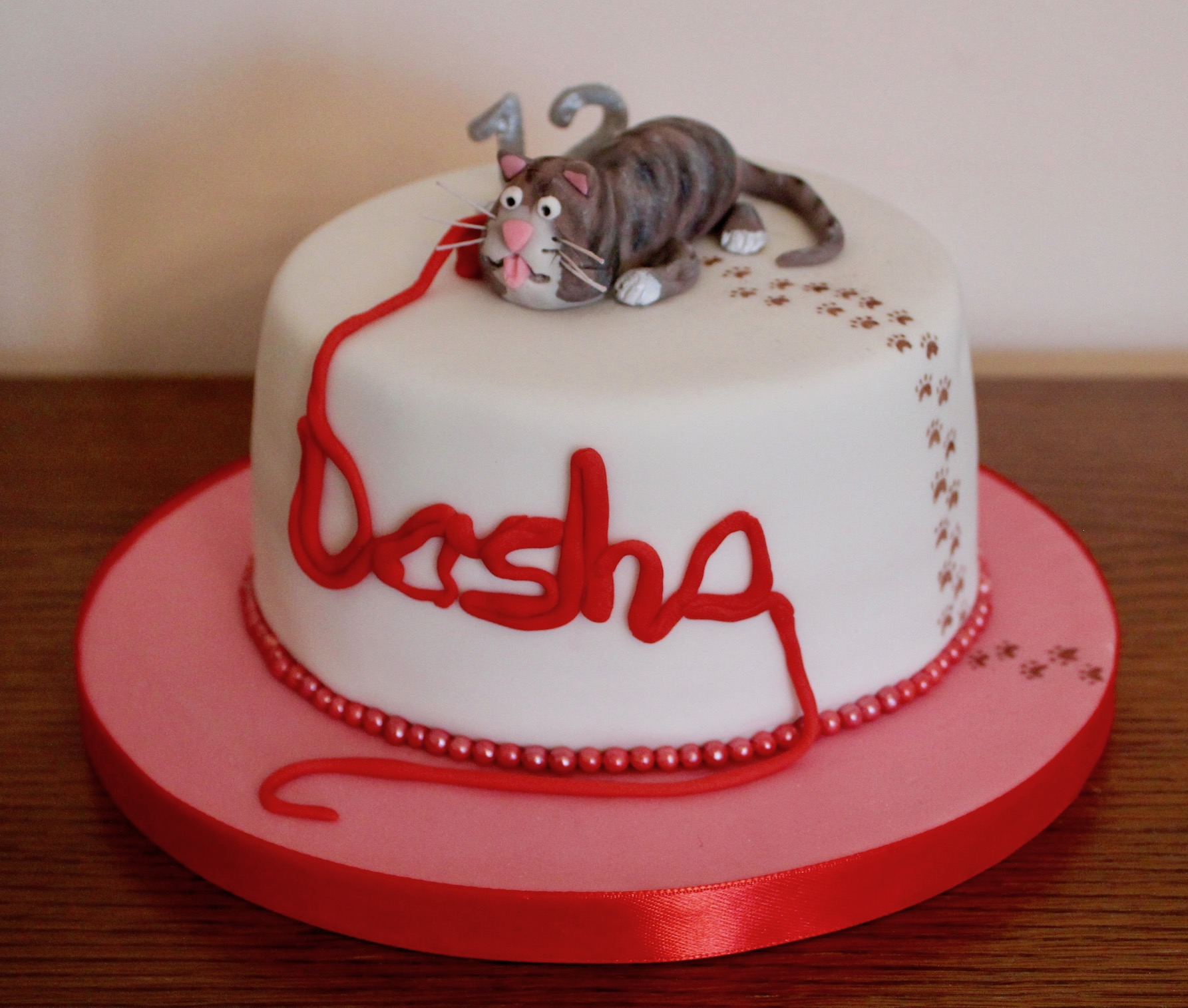 Tabby Cat Birthday Cake
