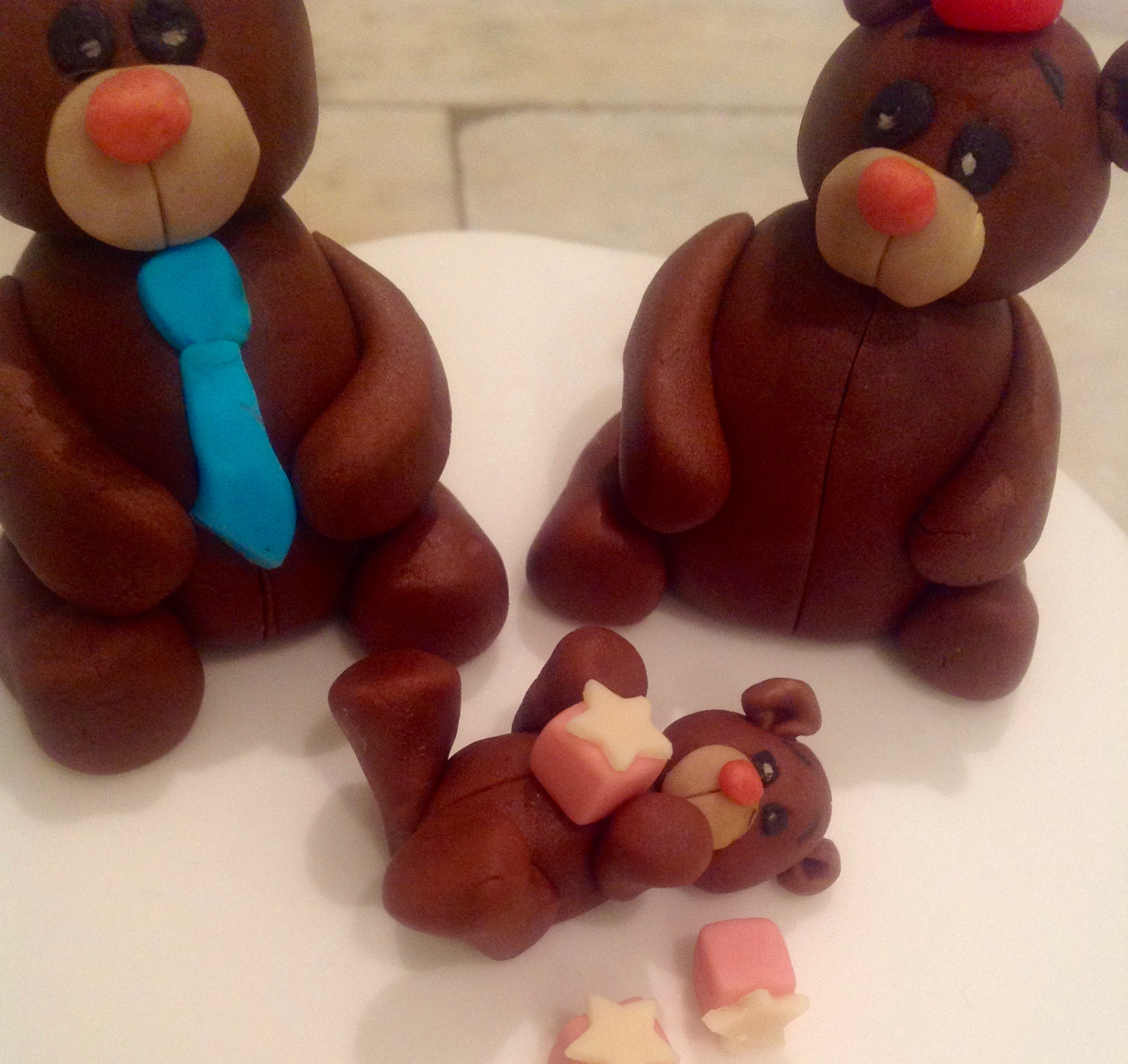 Father's day bear family cake