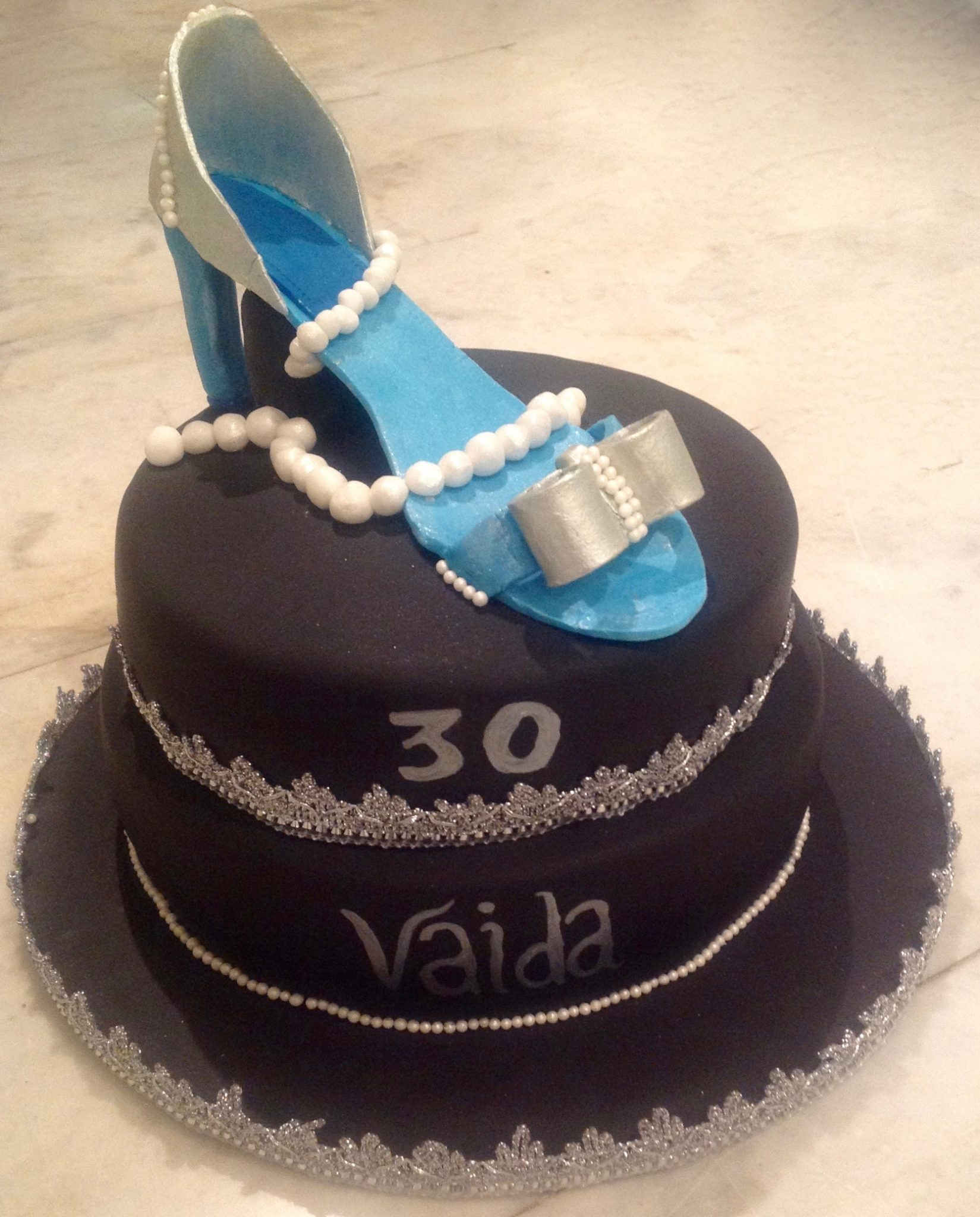 Silver Shoe Birthday Cake