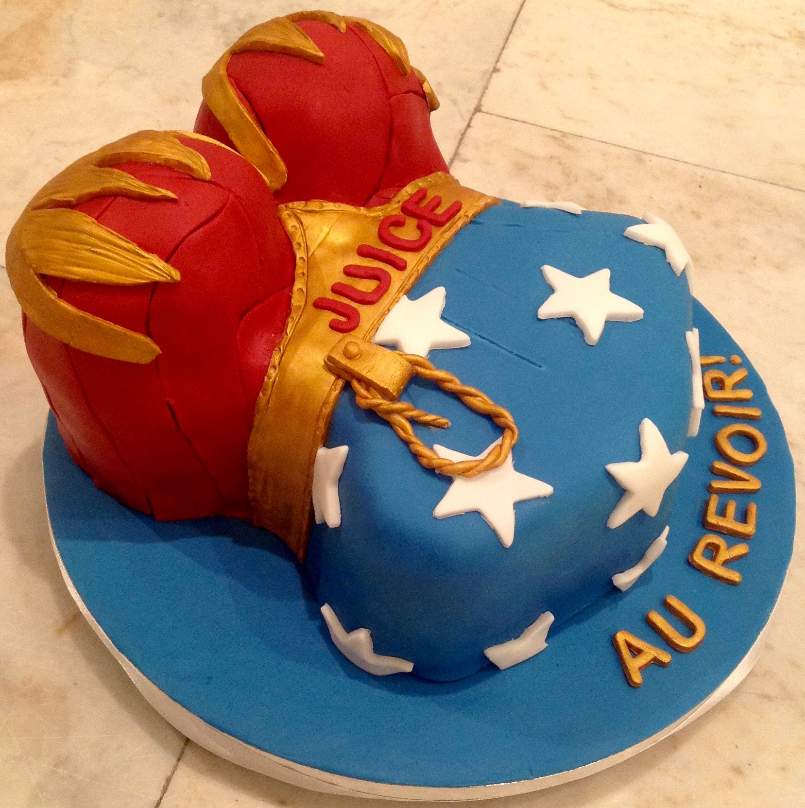 Super Heroine Goodbye Cake