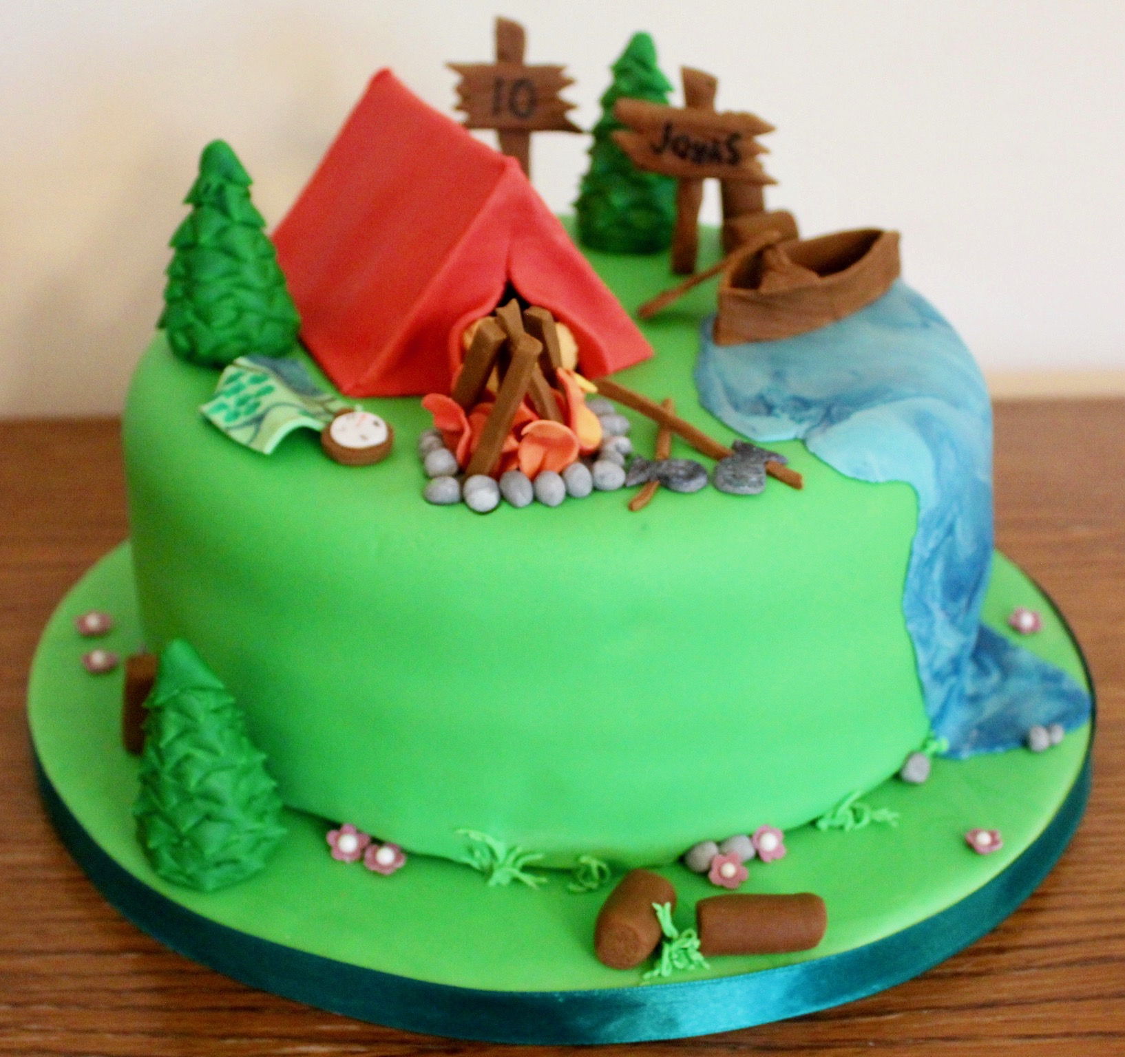 Camping Survival Birthday Cake