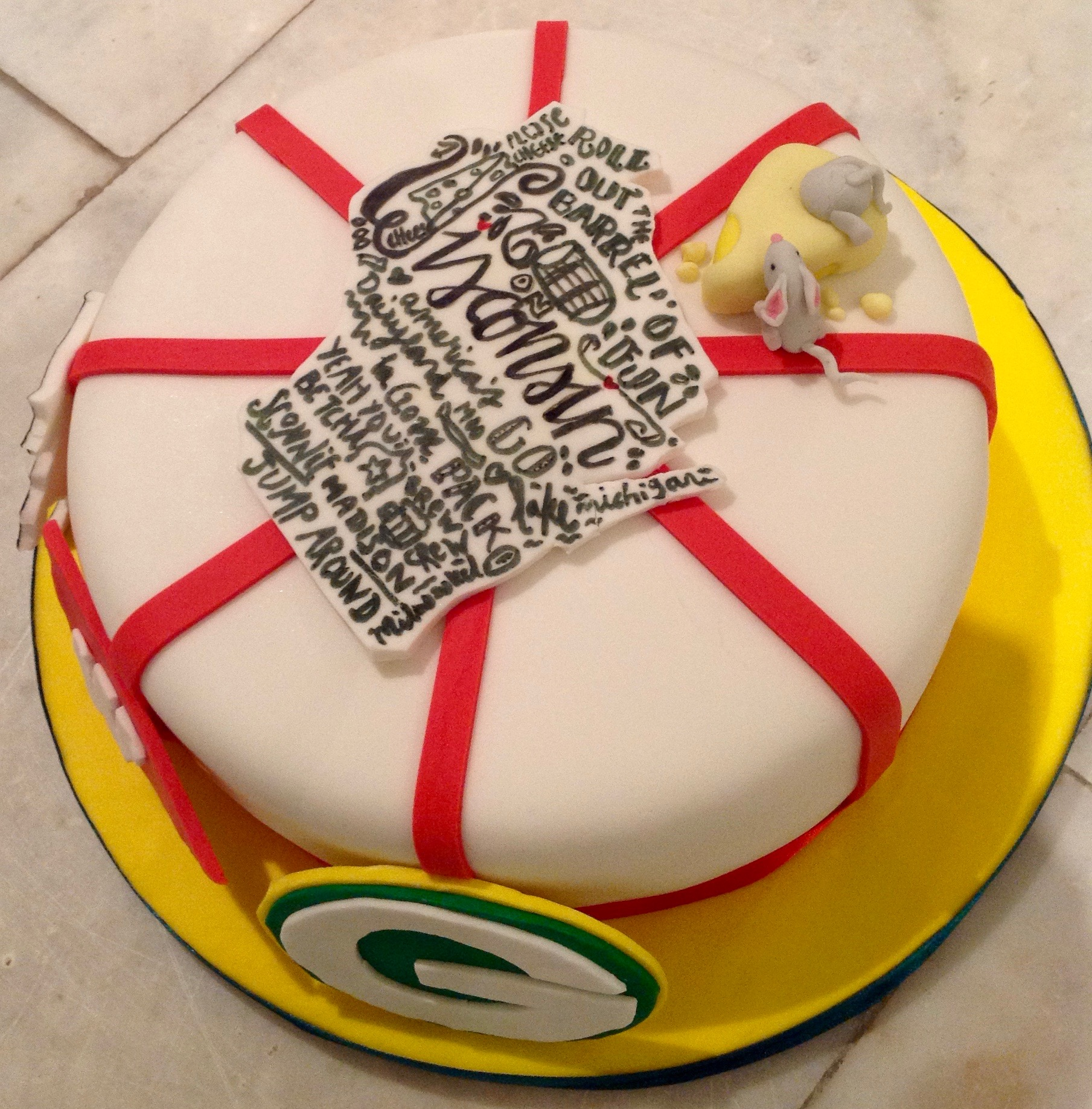 Wisconsin Celebration Birthday Cake