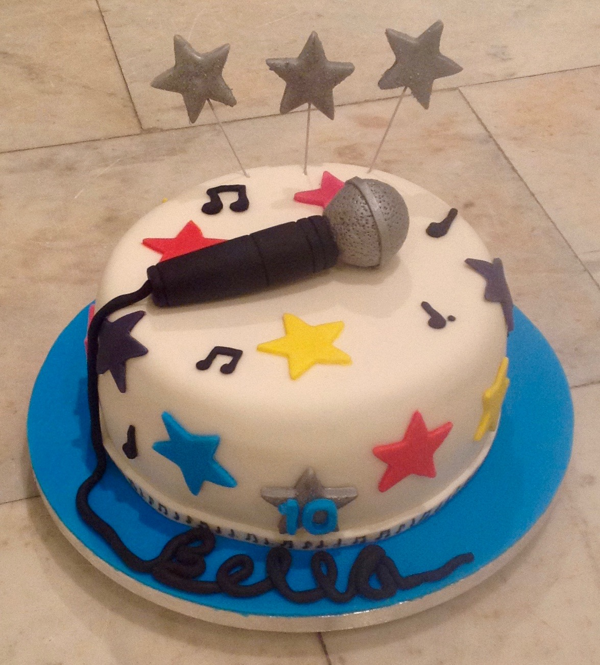Microphone Singing Birthday Cake