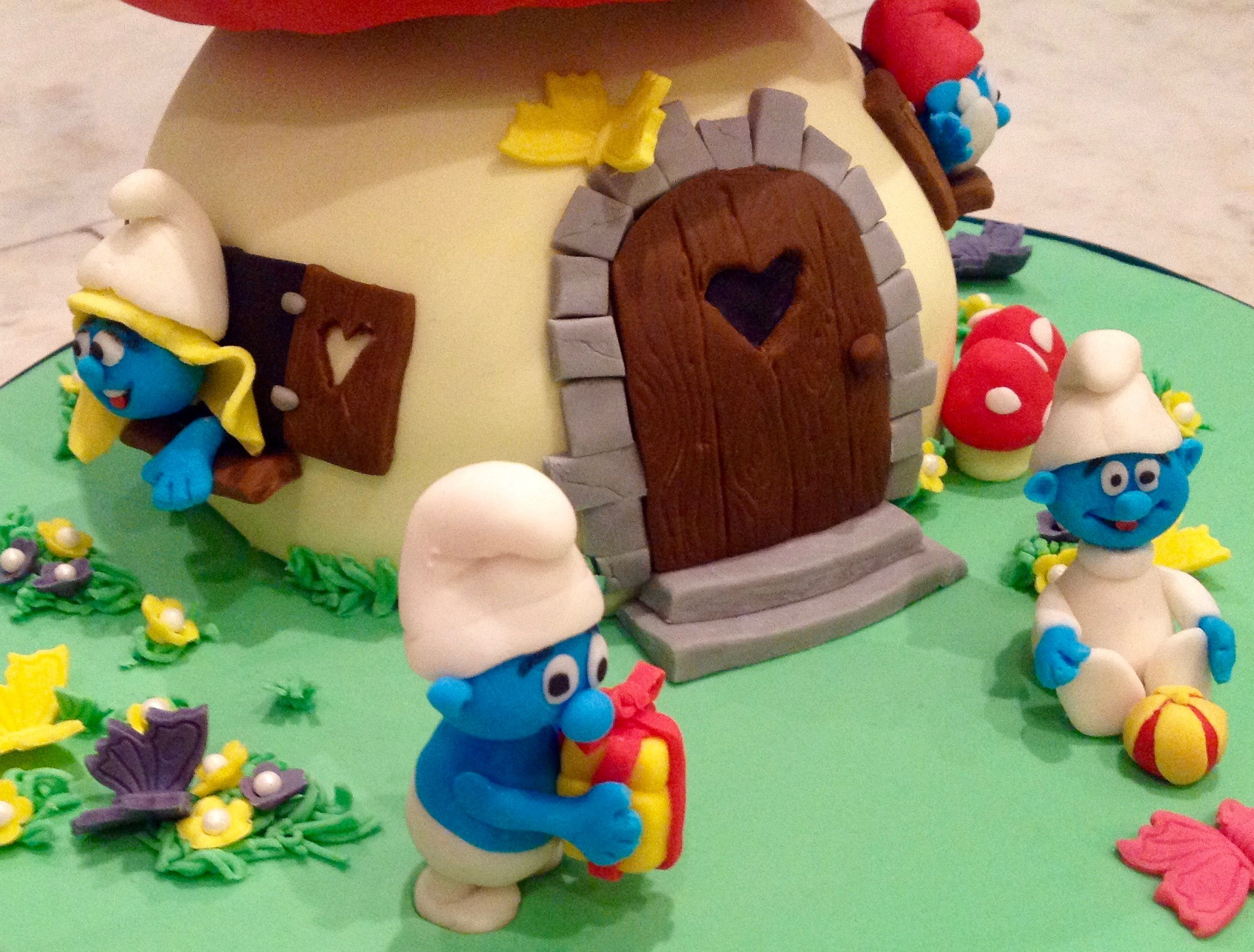 Smurf House Birthday Cake
