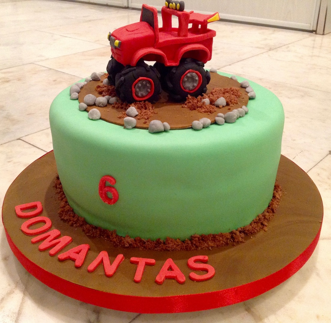 Monster Truck 6th Birthday Cake