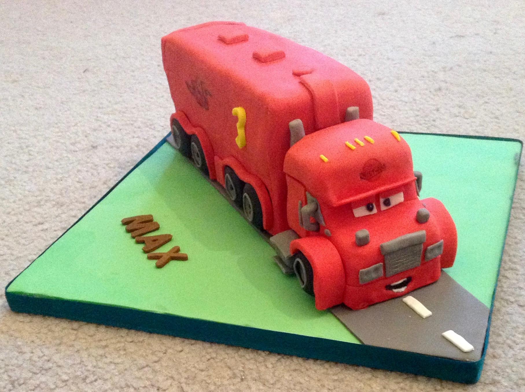 Mack Lorry 3rd Birthday Cake