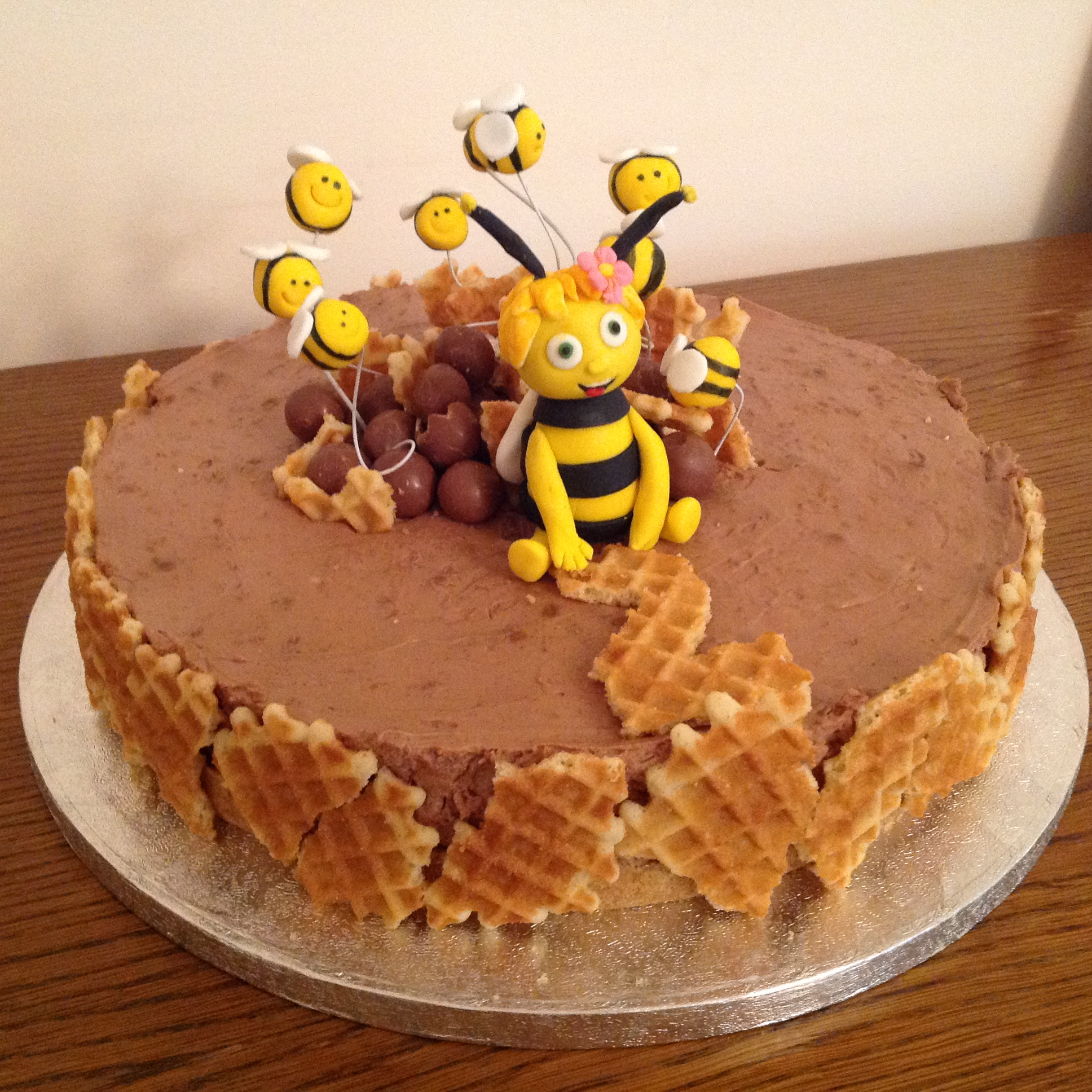Maya the Bee Birthday Cheesecake