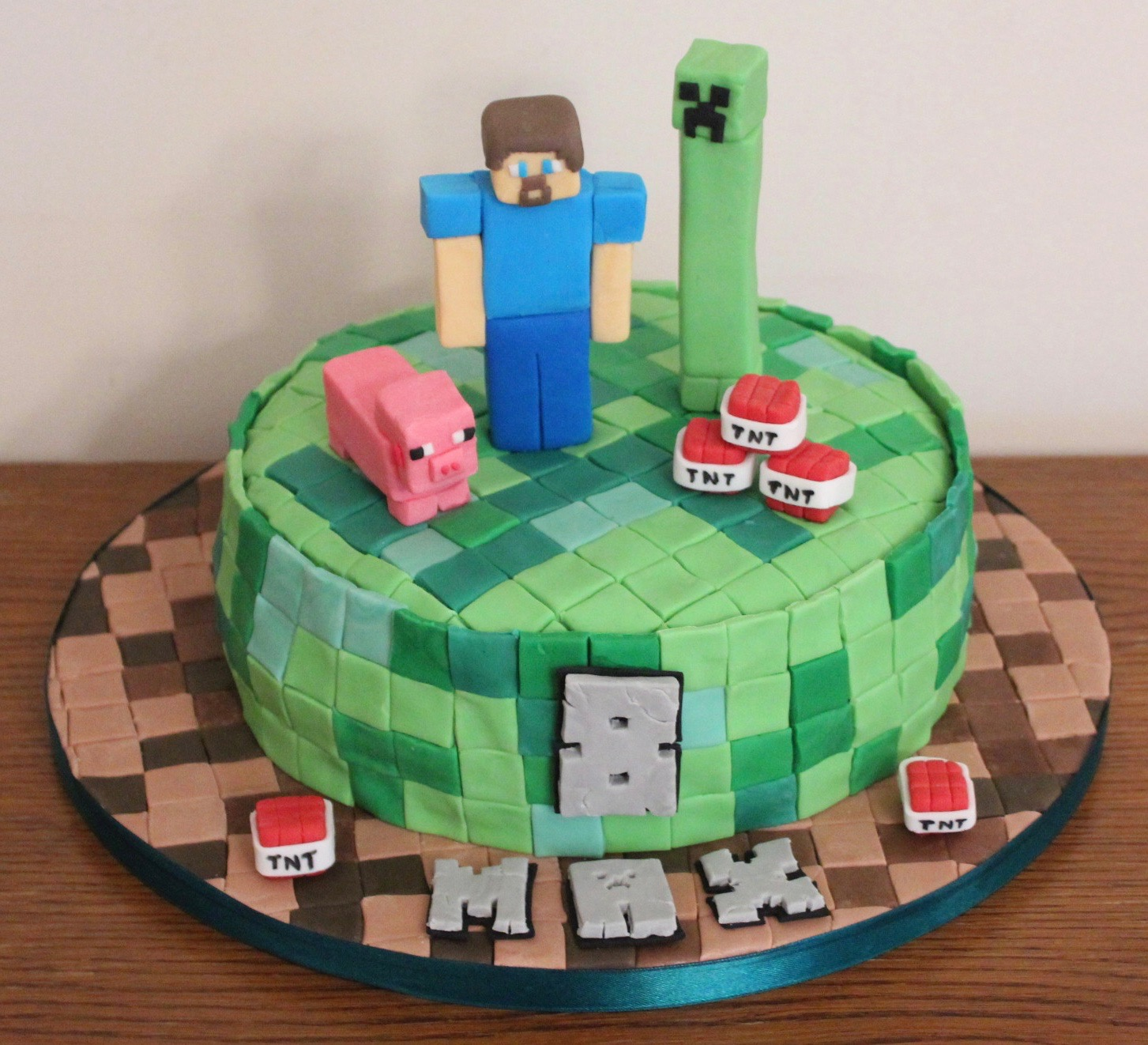 Minecraft Scene Birthday Cake