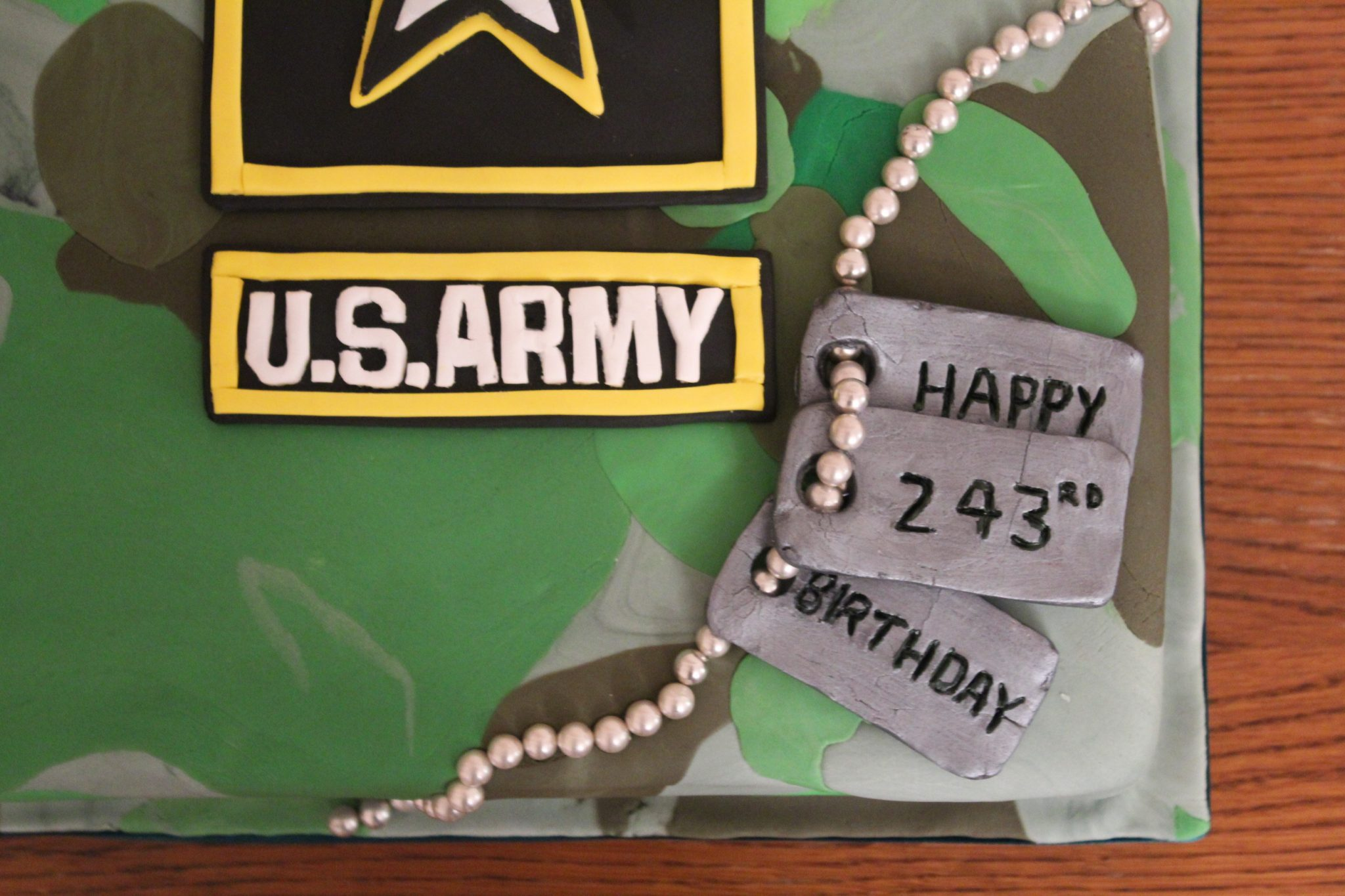 US Army Camouflage Birthday Cake