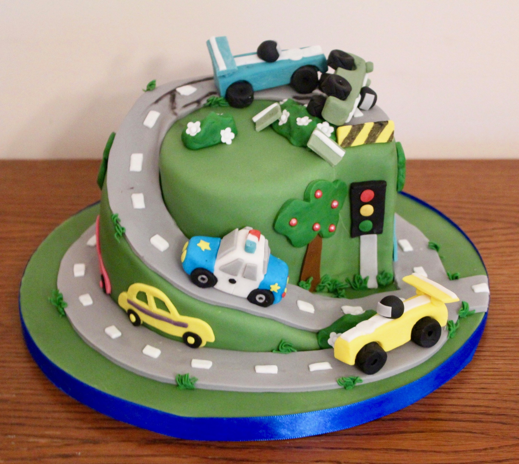 Car Road Birthday Cake