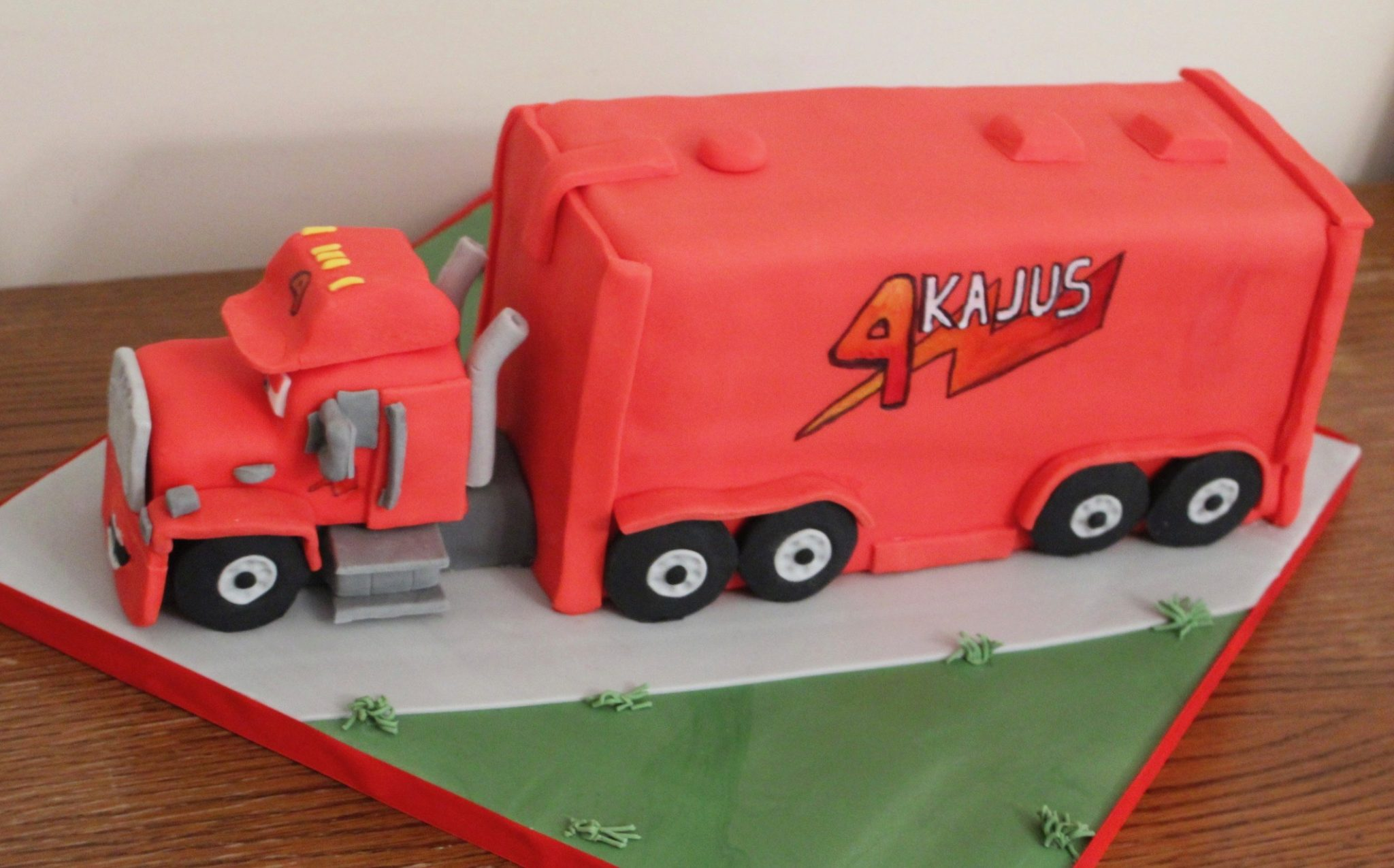 Mack Truck Cars Birthday Cake