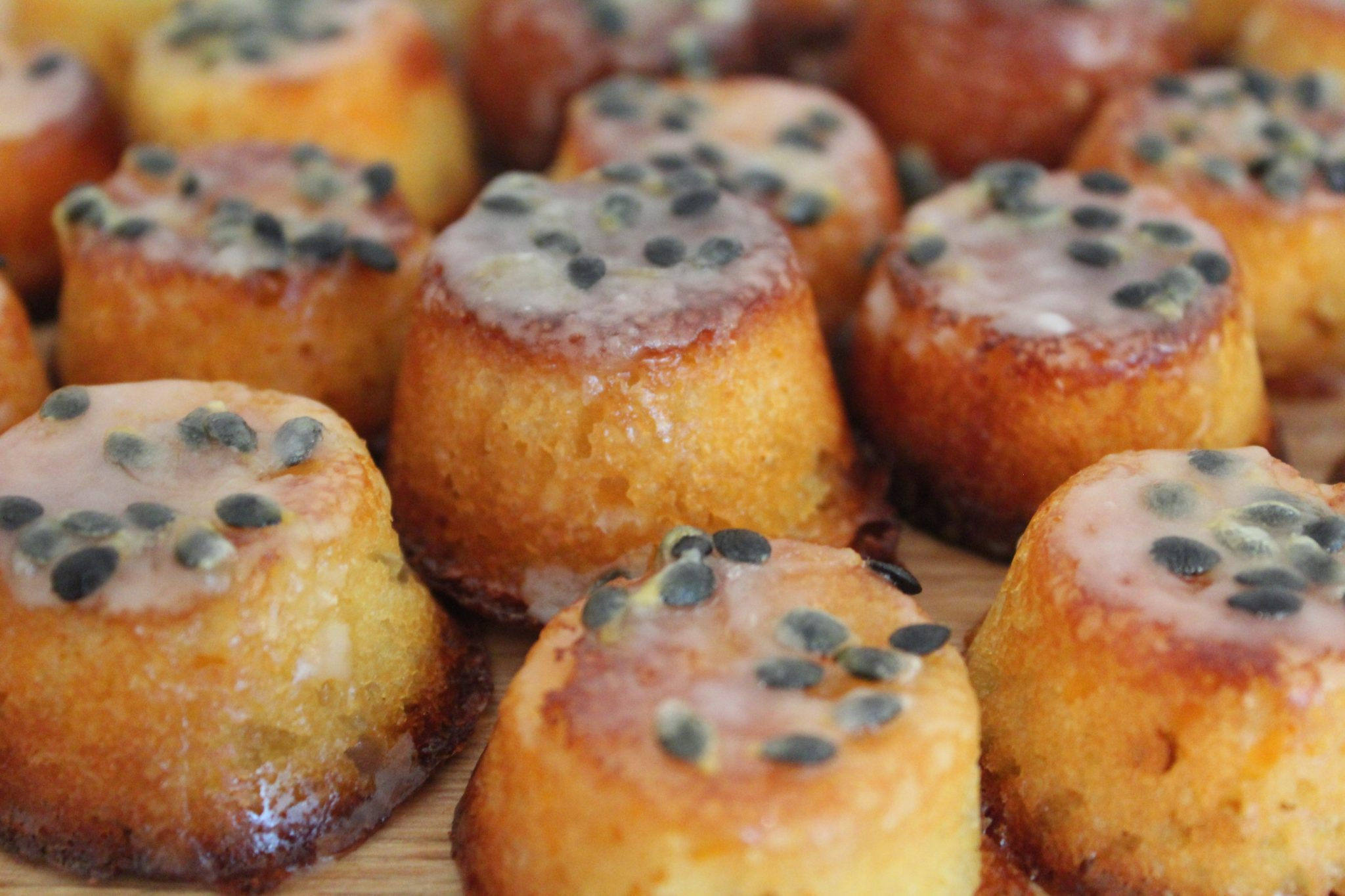 Gluten dairy free passionfruit butternut squash cakes