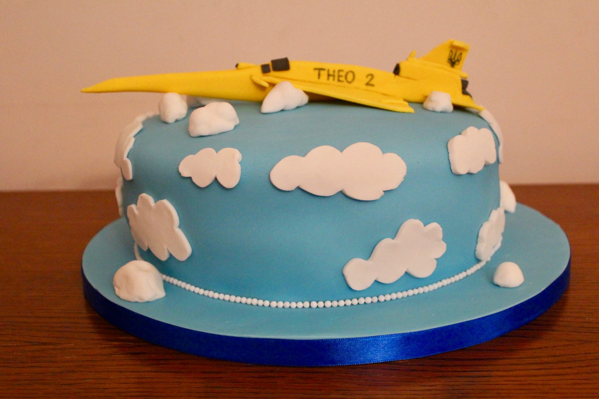 Yellow Concorde 2nd Birthday Cake