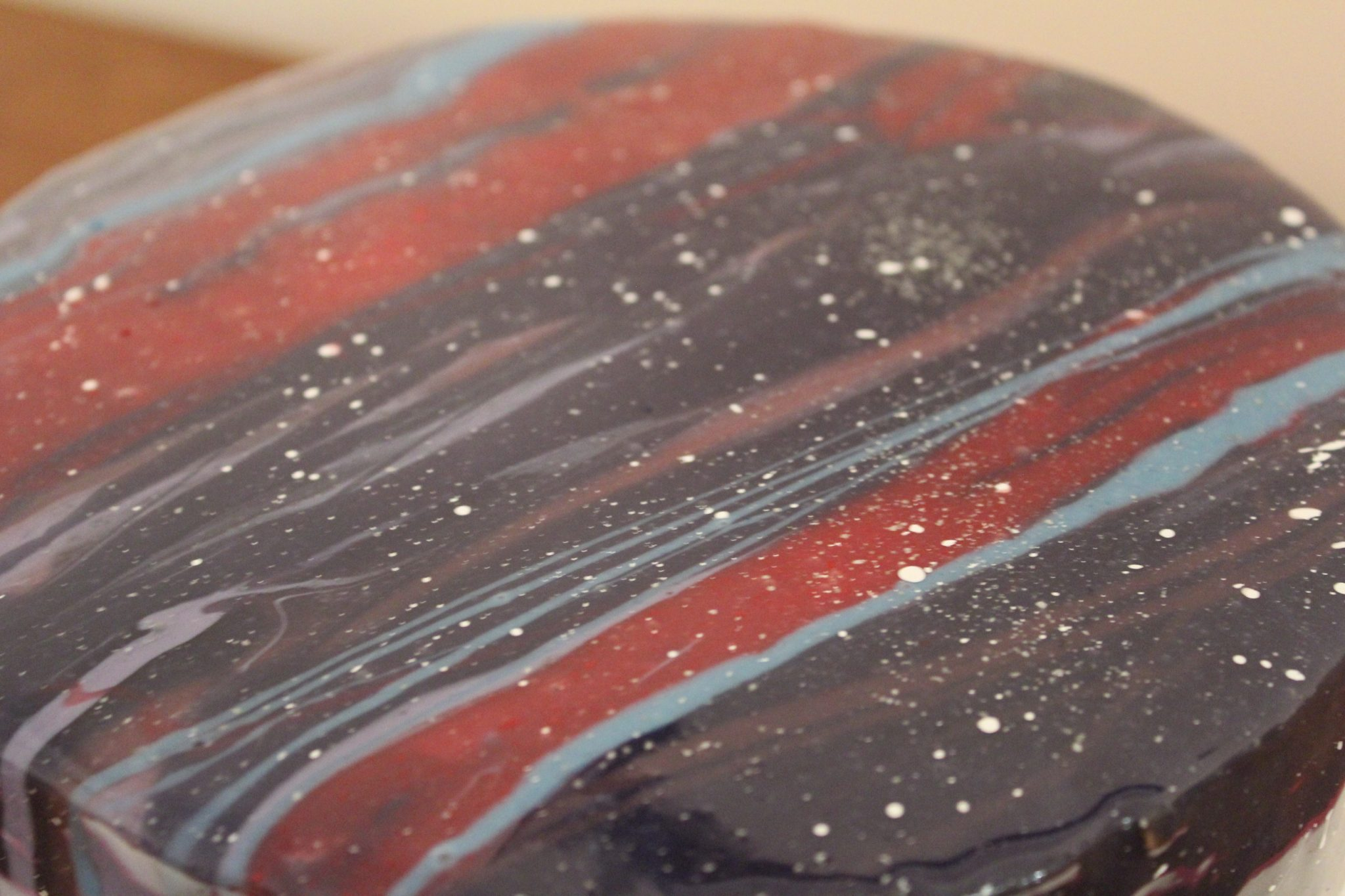 Galaxy Glaze Birthday Cake