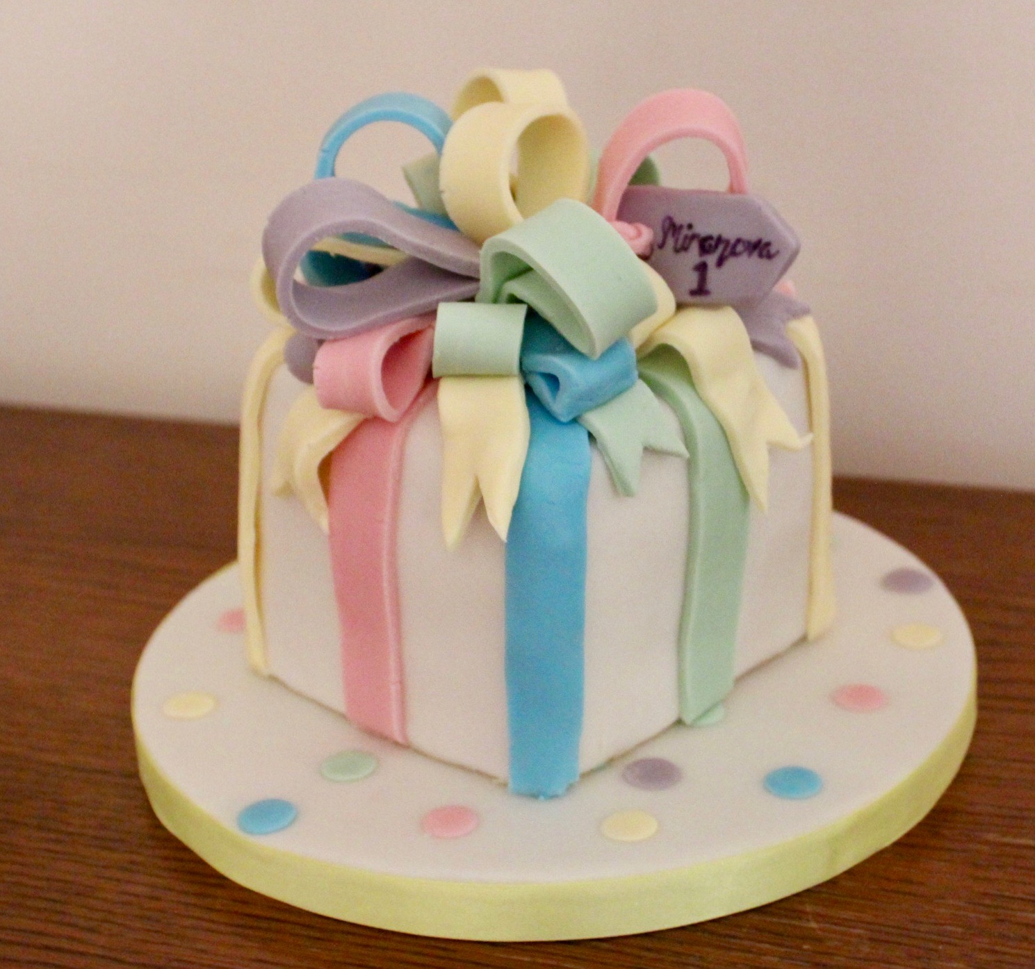 Wrapped Present Birthday Cake