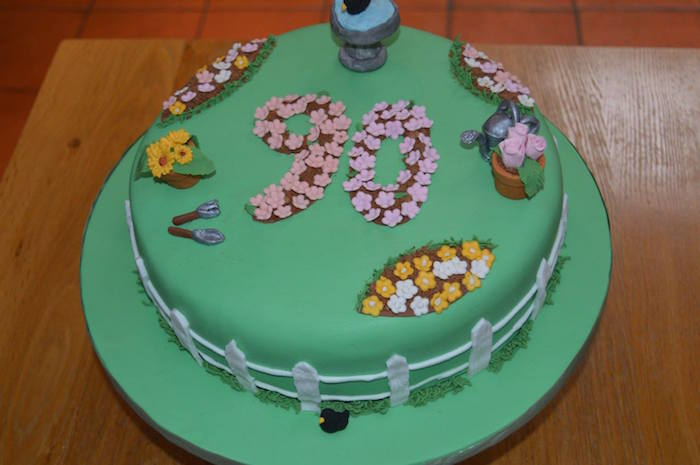 Gardening 90th Birthday Cake