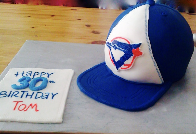 Blue Jays Baseball Cap Birthday Cake