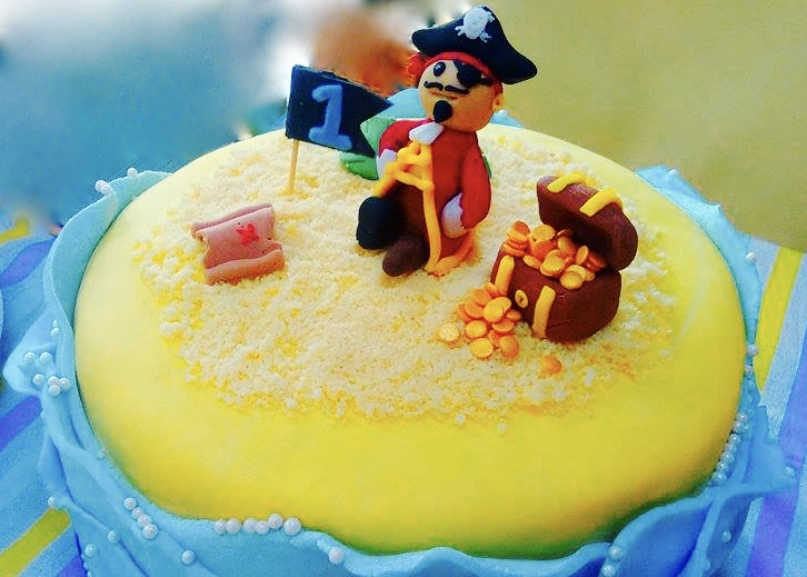 Pirate Island Birthday Cake