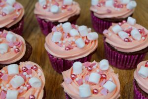 Free From Pink Sparkle Cupcakes